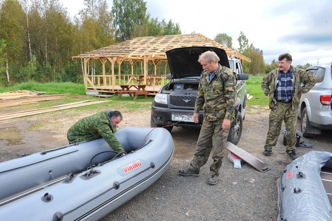 площадка для вооружения и разоружения резиновых лодок